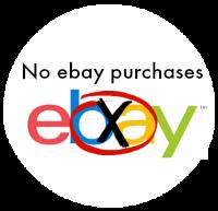 No ebay purchases